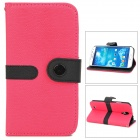 Protective PU Leather + PC Case for Samsung Galaxy S4 i9500 - Red + Black
