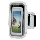 Stylish Outdoor Sports Gym Armband Case for Samsung Galaxy S4 i9500 - White + Black