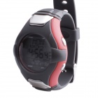 SB-020 Smart Electronic Heart Rate Calories Counter Sports Watch - Silver + Grey + Red (1 x CR2032)