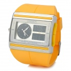 OHSEN Sport Rubber Band Analog + Digital Quartz Wrist Watch - Yellow
