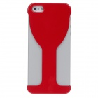 Fahion Unique Wineglass Style PVC Protecting Back Case for Iphone 5 - Red