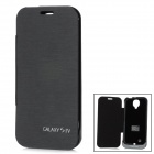 External 3200mAh Power Battery Charger PU Leather Case w/ Switch for Samsung Galaxy S4 i9500 - Black