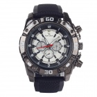 Super speed V6 V0180 Men's Racer Quartz Wrist Watch- Black + White (1 x LR626)