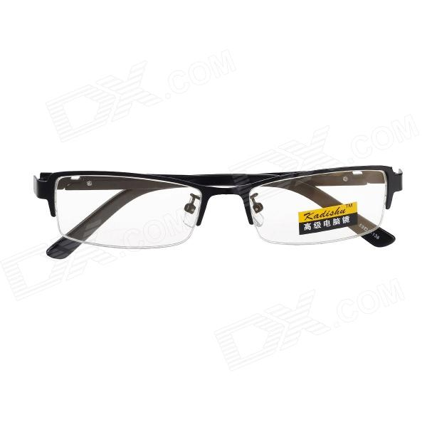 Men's Half-Frame Radiation Protection Glasses for Surf Internet - Black