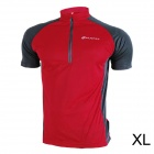 NUCKILY NJ601 Mountain / Road Bicycle Cycling Short Sleeves Jersey - Red + Black (Size-XL)