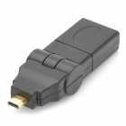 8-180 180 Degree All-round Rotatable Gold-plated Micro HDMI Male to HDMI Female Adapter - Black
