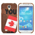 Maple Leaf Pattern Protective PC Hard Back Case for Samsung Galaxy S4 i9500 - Multicolored