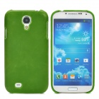 Protective PC + PU Leather Hard Back Case for Samsung Galaxy S4 i9500 - Grass Green