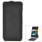 Protective Flip-Open 360 Degree Rotation Case for HTC One M7 801e - Black