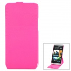 Protective Flip-Open 360 Degree Rotation Case for HTC One M7 801e - Deep Pink