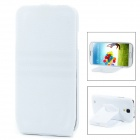 Protective Top Flip Open Style Case w/ 360 Degree Rotatable Stand for Samsung i9500 - White
