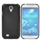 Plastic PU Leather + PC Hard Back Case for Samsung Galaxy S4 i9500 - Black