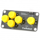 5-key Analog Keyboard Module for Arduino Power Electric Building Block - Yellow + Black