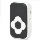 Fashionable Mini 110mAh Li-ion Polymer TF Card MP3 Player w/ Clip - Black + White (16GB Max.)