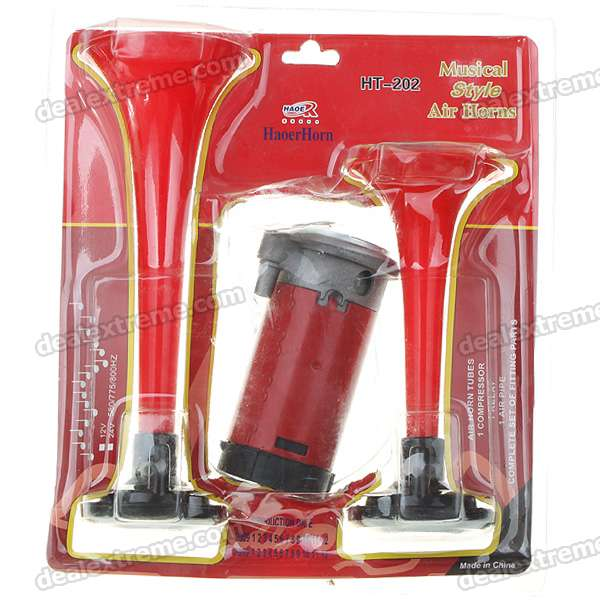 80dB Loud Car Air Horn with Compressor for Vehicles (3-Piece Set)