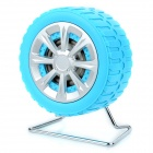 Fashion Tyre Style Mini Portable Stereo Speaker for MP3 / Cellphone / Tablet + More - Blue + Silver
