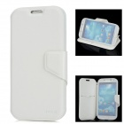 IMAX Protective Cow Leather Case w/ Screen Protector for Samsung Galaxy S4 i9500 - White
