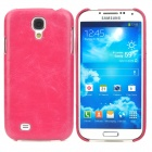 Protective PC + PU Leather Back Case for Samsung Galaxy S4 i9500 - Red