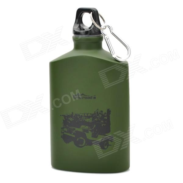 Outdoor Sports Aluminum Water Bottle - Green (500ml)