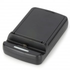 2-in-1 Cell Phone + Battery Charging Dock for Samsung Galaxy S4 / i9500 - Black