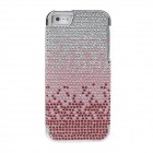Protective Crystal Decorated PVC Back Case for Iphone 5 - Red + Pink + Silver