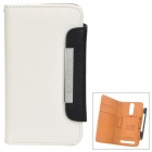KALAIDENG Protective PU Leather Case w/ Strap for Sony Xperia SL LT26ii - White