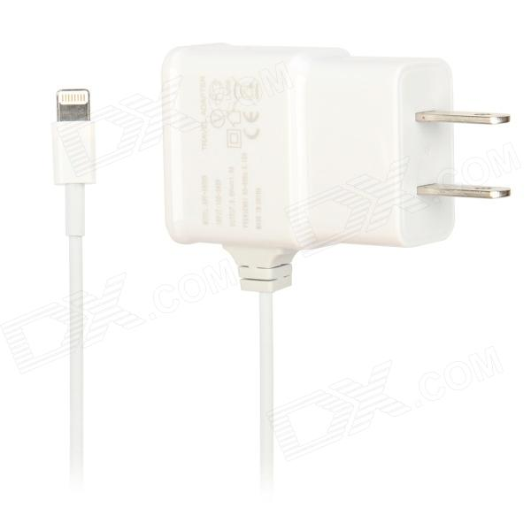 T-059 Lightning Power Adapter for iPhone 5 - White (AC 100~240V / US Plug / 96cm-Cable)