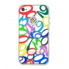 Hollow-out Numbers Pattern Protective TPU Case for Iphone 4 / 4S - Multicolored