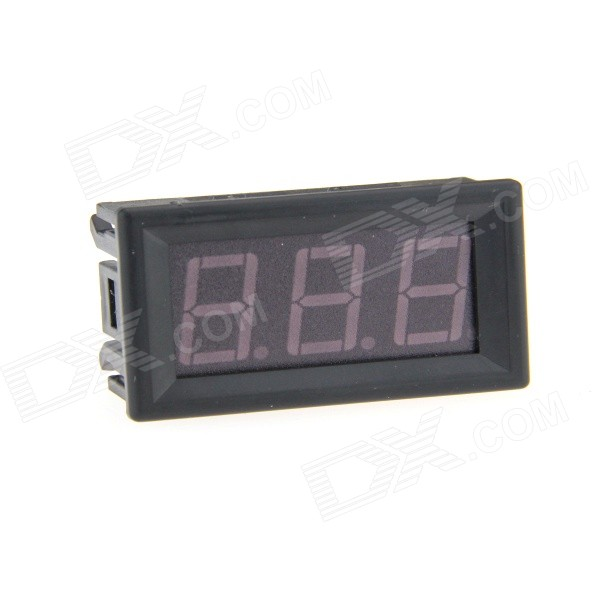 SJ-ACV056FB 0.56 3-Digital LED Blue Light Display 2-Line AC Voltmeter - Black (12~380V)