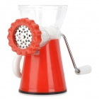 Multifunction Stainless Steel Manual Meat Grinder - Red + White