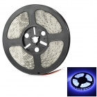 Waterproof 72W 5000lm 9000K 72-SMD 5630 LED Bluish White Light Flexible Light Strip - White (500cm)