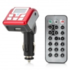 "1.0"" LCD 2.4GHz Bluetooth v2.0 Car FM Transmitter MP3 Player w/ SD / Hands-Free Speakerphone - Red"