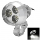 9W 400lm White 3-Bridgelux LED Headlamp / Spotlight for Motorcycle / Electric Car - Silver (12~80V)