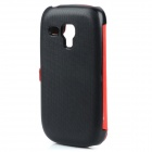 Protective View Window PU Leather Case for Samsung Galaxy S3 Mini i8190 - Red + Black