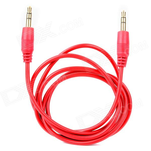 3.5mm Male to Male Extension Audio Cable - Red (100 CM)