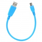 MCC-24 High Speed USB Male to Micro USB Male Data Cable - Blue (25 CM)