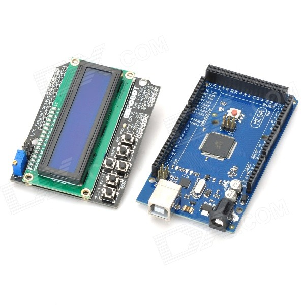 DIY Mega 2560 R3+Keypad Shield 1602 LCD Board w/USB Cable for Arduino