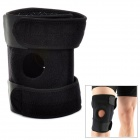 Adjustable Sport Dual-Spring Pressure Elastic Knee Support Pad Protector - Black