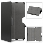 "ED792 Protective PU Leather Case w/ Hand Strap for Samsung XE500T 11.6"" - Black"