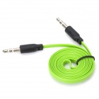 Flat 3.5mm Male to Male Audio Connection Cable - Light Green + White (100cm)