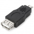 Micro USB Male to USB Female Adapter for Cell Phone - Black