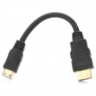 HDMI Male to Mini HDMI Male Audio / Video Connection Cable - Black (16.5cm)