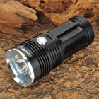 NITEFIRE KING 3 x Cree XM-L T6 1800lm 3-Mode White Flashlight - Black (4 x 18650)