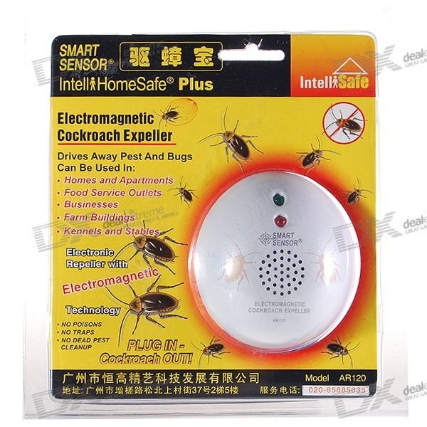 Smart-Sensor Personal Ultrasonic Cockroach Repeller (220V)