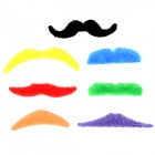 Funny Self-adhesive Lint Fiber Mood Mustaches Set - Multicolored (7 PCS)