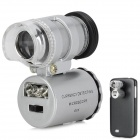 LrG-w 60X Magnification Microscope w/ Back Case for Samsung Galaxy S4 / i9500 - Silver + Black