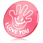 Cool Palm Style Aluminum Alloy Home Button Sticker for Iphone / Ipod / Ipad - Deep Pink