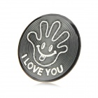 Cool Palm Style Aluminum Alloy Home Button Sticker for Iphone / Ipod / Ipad - Black