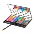 Naras Portable 32-Color Cosmetic Makeup Lipstick / Cream Eyeshadow Palette - Multicolored