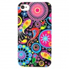 Individuality Scrawl Pattern Protective Plastic Hard Back Case for Iphone 4 - Multicolored